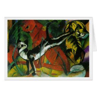 Tres gatos - Franz Marc Felicitación