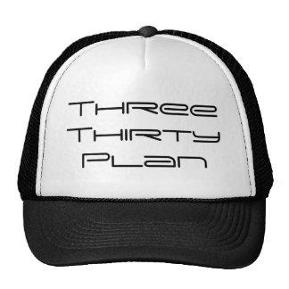 Tres gorra de treinta planes