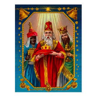 Tres hombres sabios postal