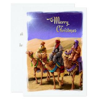 Tres hombres sabios que pintan tarjetas de Navidad Invitación 12,7 X 17,8 Cm