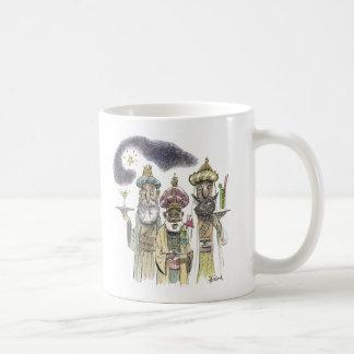 Tres hombres sabios taza de café
