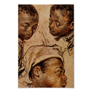 Tres muchachos del negro póster