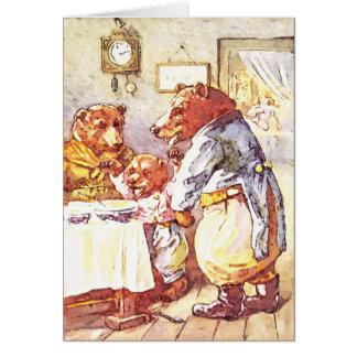 Tres osos tarjeta de felicitación