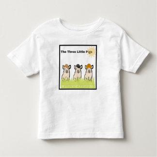 Tres pequeños cerdos camiseta de bebé
