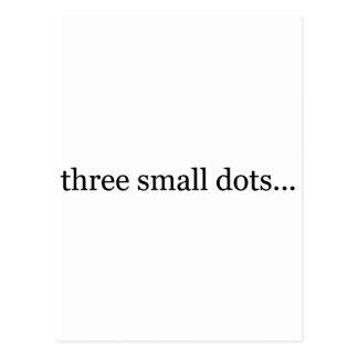 tres pequeños puntos postal