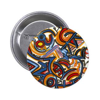 Tres pintados a mano coloridos del arte chapa redonda 5 cm