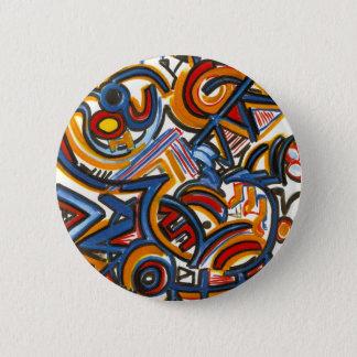 Tres pintados a mano coloridos del arte chapa redonda de 5 cm