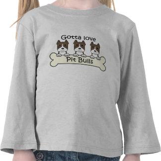Tres Pitbulls Camiseta