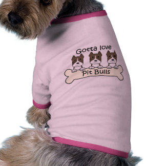 Tres Pitbulls Camisetas De Perrito