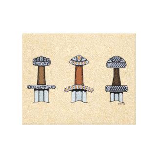 Tres puños de la espada de Viking Lienzo