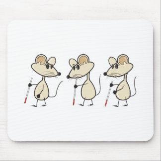 tres ratones ciegos alfombrillas de ratones