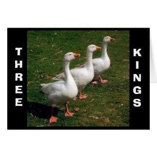 ¡Tres reyes! Tarjeta