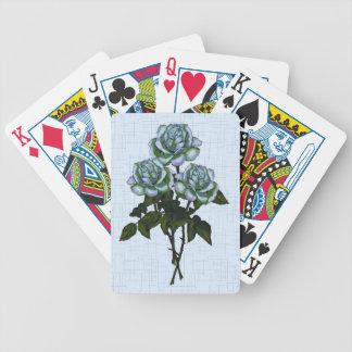 Tres rosas blancos: Arte del lápiz del color: Baraja Cartas De Poker