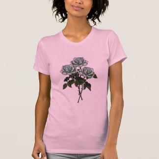 Tres rosas blancos: Arte del lápiz del color: Camisas