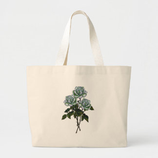 Tres rosas blancos: Arte del lápiz del color: Flor Bolsa