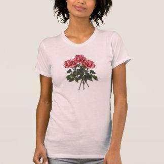 Tres rosas rosados: Arte del lápiz del color: Camisetas
