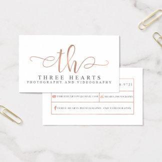 Tres tarjetas de visita de encargo de los