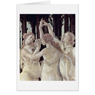 Tres tolerancias de Sandro Botticelli Tarjeta