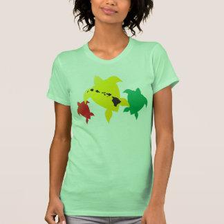 Tres tortugas de mar verde de Hawaii Camisetas
