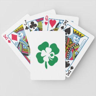Tres tréboles baraja cartas de poker