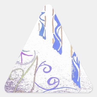tri 4 pegatina triangular