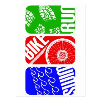 TRI bloques del color del Triathlon Postal