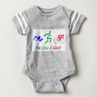 Tri como un chica body para bebé