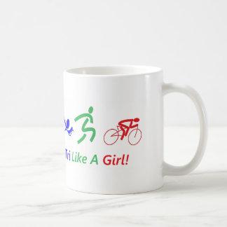 Tri como una taza de café del chica