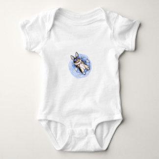 Tri Corgi estropeado Body Para Bebé