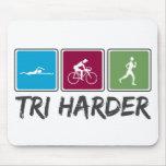Tri más duro (Triathlon) Tapetes De Raton