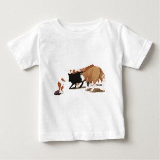 Tri perro australiano rojo de la vaca del pastor camiseta de bebé