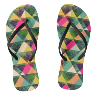 Triangles Colorful Chanclas