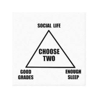 Triángulo de la escuela impresión en lona