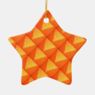 Triángulo de oro: Impresión DE SEDA de la celebrac Ornamento Para Arbol De Navidad