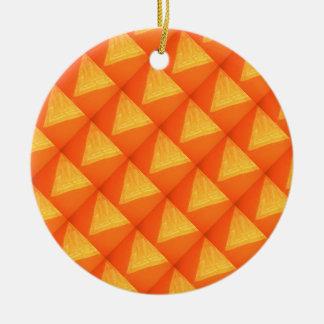 Triángulo de oro: Impresión DE SEDA de la celebrac Adorno De Navidad