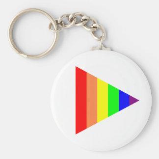 Triángulo del llavero del orgullo gay