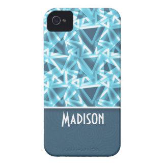 Triángulo fresco Azul iPhone 4 Case-Mate Carcasa