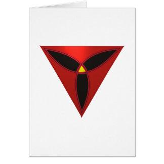 Triángulo modelo cara triangle shape face tarjeta