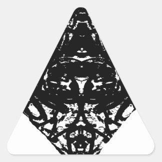 triángulo pegatina triangular
