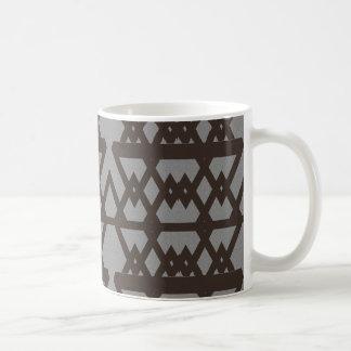 Triángulo y modelo del gris del diamante taza de café