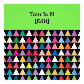 Triángulos - 8va invitación de la fiesta de
