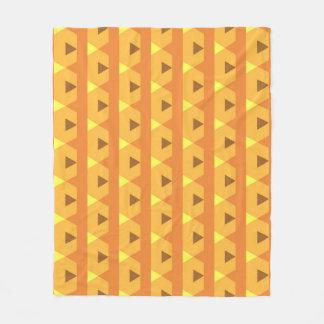 Triángulos anaranjados manta polar