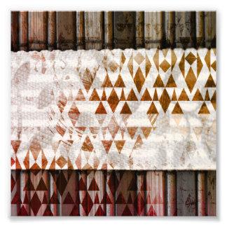Triángulos bohemios de madera rústicos bonitos de fotografías