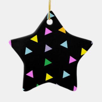Triángulos coloridos adorno de cerámica en forma de estrella