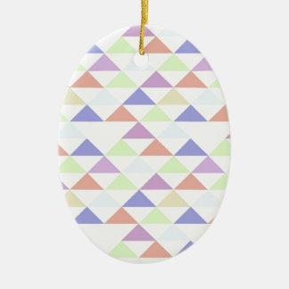 Triángulos coloridos ornamentos de reyes magos