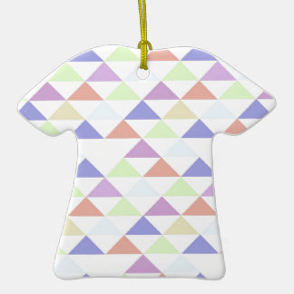 Triángulos coloridos ornamento para arbol de navidad