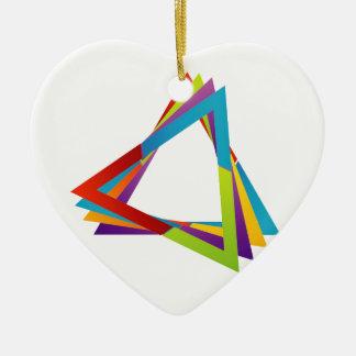 Triángulos coloridos adorno