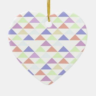Triángulos coloridos adorno para reyes