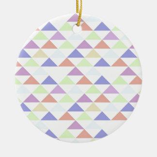 Triángulos coloridos adornos de navidad