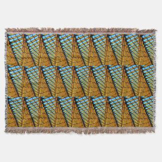 Triángulos coloridos y formas geométricos afganos manta